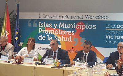 "Ricardo Franco representa a AMRAM na abertura do Worshop ""Islas y Municipios promotores de la Salud"" que decorre nas Canárias"