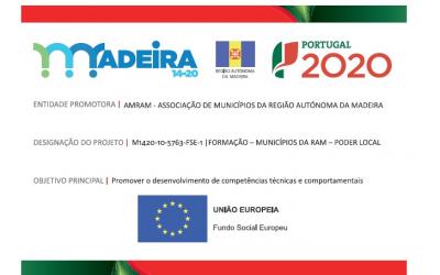 AMRAM obtém aprovação da candidatura apresentada ao Programa Madeira 2014-2020, no âmbito da Formação