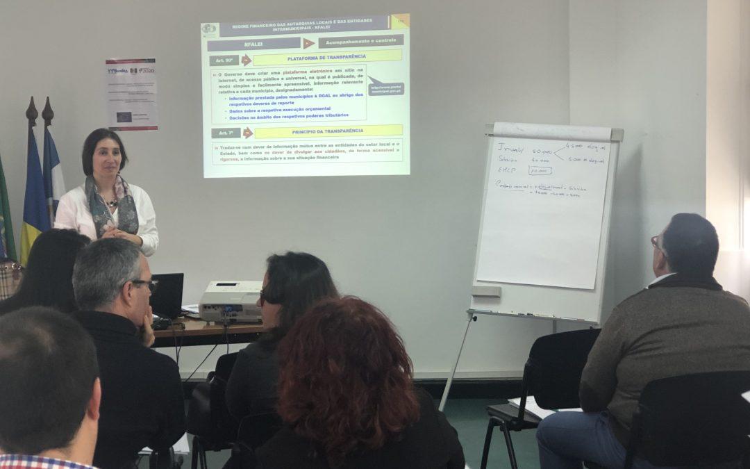 Regime Financeiro das Autarquias Locais e das Entidades Intermunicipais – principais alterações em vigor desde 2019, foi o tema em análise na ação de formação promovida pela AMRAM