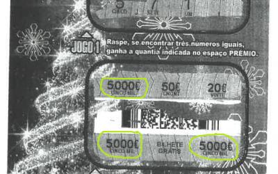 Raspa dá premio de € 5.000
