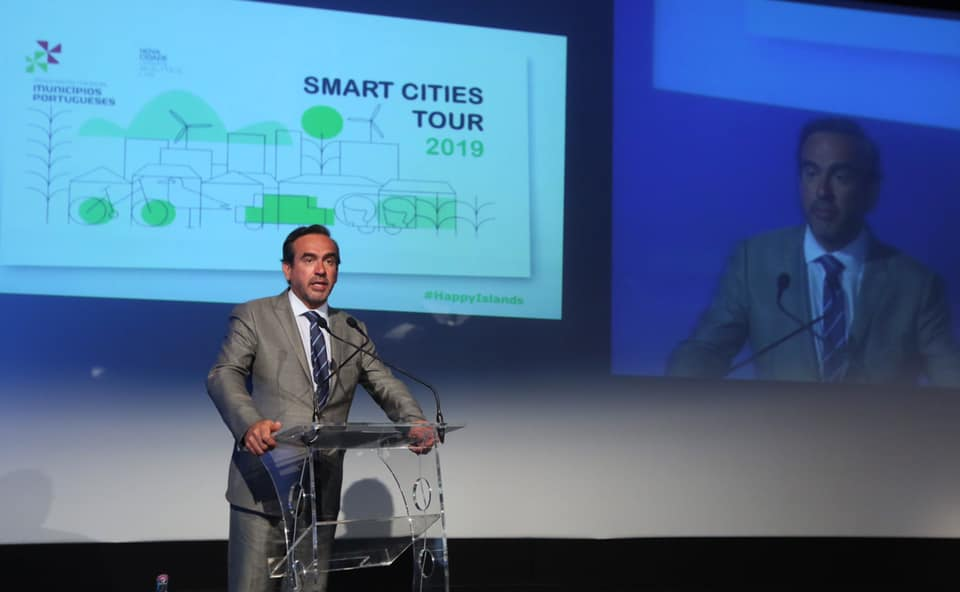"Pedro Coelho, representa a AMRAM na abertura do workshop ""Happy Island"" – Smart Cities Tour 2019"