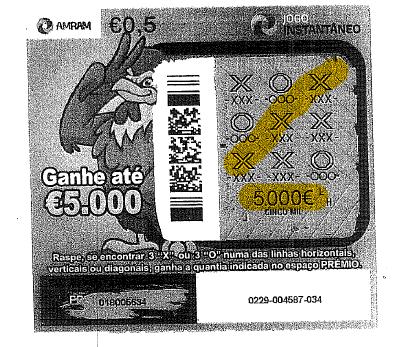 Jogo Instantâneo premeia apostadora com 5.000€
